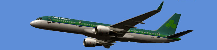 Aer Lingus Boeing 757-200 serving Boston-Shannon route